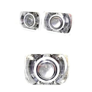 汎用送込ハイラックス MR2 角白イカリングヘッドライトランプSET|auto-parts-jp