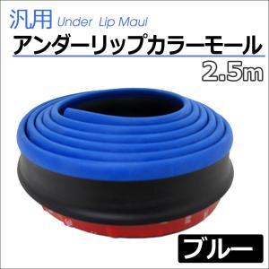 (ac378-02) アンダーリップカラーモール / (ブラック×ブルー) / 2.5M  / ウレタンゴム製 autoagency