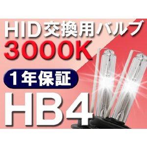 HID交換用バルブ / HB4 / 3000K / 2個セット / 1年保証 / 25W-35W-55W対応 / 12V autoagency