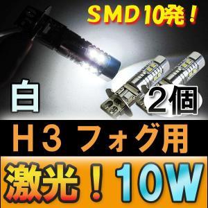 (12V/24V) H3 LEDフォグランプ / 10W / 白 / 2個セット autoagency