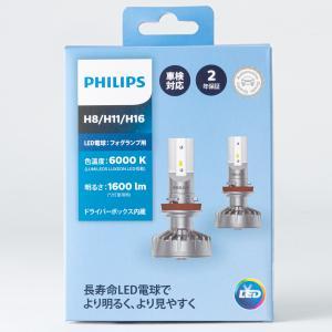 フィリップス(PHILIPS) LED フォグランプ用 H8/H11/H16 ホワイト 2本入