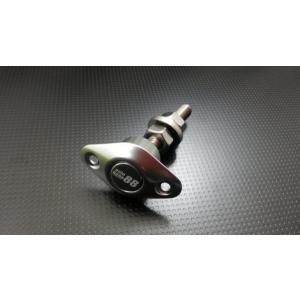 ボンピン ワンタッチ着脱 プッシュボタン式 ボンネットピン  楕円形45mm シルバー 1個|autobahn88