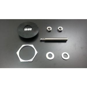 ボンピン ワンタッチ着脱 プッシュボタン式 ボンネットピン 円盤60mm 1個 黒|autobahn88