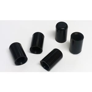シリコンホース バキュームラインキャップ内径4mm 5個 黒|autobahn88