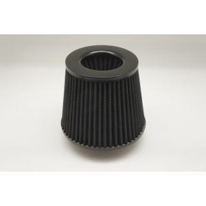 汎用 メッシュタイプ  エアクリーナー フィルター 76mm  ブラック|autobahn88