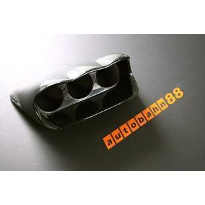 カーボン製 60mm 3連メーターゲージパネルSubaru Impreza WRX STi GDB EJ20|autobahn88