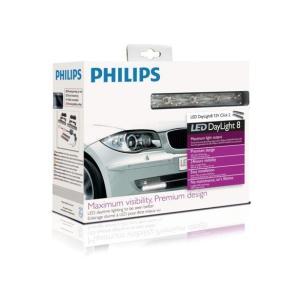 デイライト デイランプ PHILIPS 8 LED DRL 汎用  6000K|autobahn88