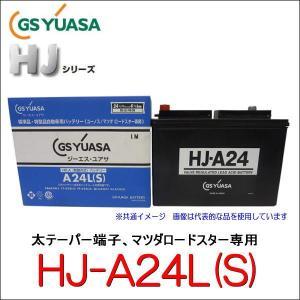 GSユアサ HJ-A24L(S)  高性能カーバッテリー 太テーパー端子、マツダロードスター専用/GS YUASA /汎用JIS品では対応できない特型品対応バッテリー|autocenter