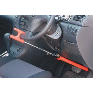 自動車セキュリティ・マルチロック SVR−212 (ブレーキペダル・ハンドルロック・シフトノブの3パターンで固定できる)|autocenter|06