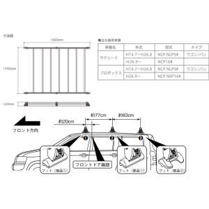 TERZO 品番:EA900PS 業務用ルーフキャリア アルミ製ルーフラック <プロボックス/サクシードに適合> autocenter 02