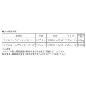 TERZO 業務用ルーフキャリア 品番:EA900TL  アルミ製ルーフラック <タウンエース/ライトエースバン S402M、S412M>|autocenter|05