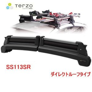 欠品中- TERZO 品番:SS113SR スキースノーボード専用キャリア TULIPA-G4 ダイレクトルーフレールタイプ /自動車/キャリア/スキー/スノーボード|autocenter