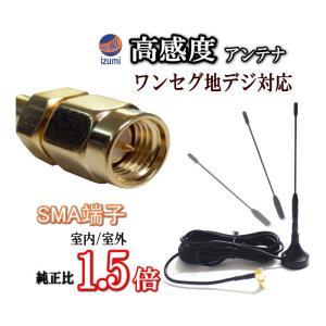 【管1】●地デジ ワンセグアンテナ/SMAアンテナ 高感度 約14.5cm/ワンセグチューナー受信専用マグネット式ロッドアンテナ/SMA端子|automaxizumi