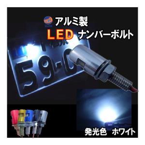 アルミナンバーボルト 赤 レッド/LEDナンバーボルト,汎用/防水.バイク.LEDナンバー灯ボルト.LED内臓ボルトナンバー灯.ボルトLED|automaxizumi