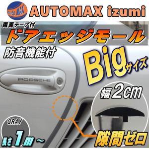 シリコン ドアモール (T型) 灰// グレー 長さ1m  (100cm) 新型 汎用 エッジガード 3M社製 両面テープ 貼付済 風切音 静電気 防止|automaxizumi