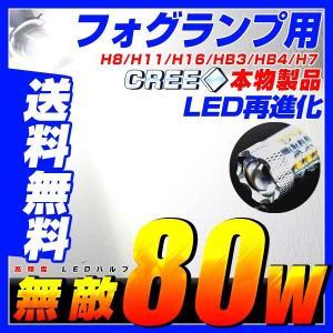 送料無料 LED CREE社 80W ハイパワー  爆光 フォグランプ LEDバルブ  【HB4】 ホワイト|autoone