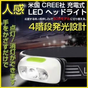 LEDヘッドライト 携帯式/充電式 人感センサー付き CREE製チップ搭載 USB充電 照明角度調整可能 IPX6防水 野外/ジョーキング/キャンプ/防災など適用 2017モデル!|autoone