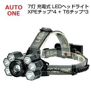 LEDヘッドライト RJ-5000 CREE製 L2 6000LM 米国 4段階点灯 SOSの効能 懐中電灯/CREE/軽量/コンパクト 防災/登山/釣り/キャンプ 【充電式電池&充電器付】|autoone