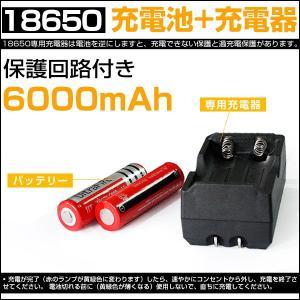 即納!送料0円!セットでお得★18650 リチウムイオン電池 + 専用充電器 Ultrafirc 6000mAh×2本 バッテリー|autoone