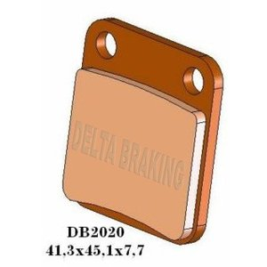 DELTA(デルタ) ブレーキパッド  DR125/RM125/TS250/LT-F400/LT-A400 フロント 1セット(2枚組) autopartsys
