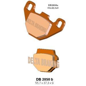 DELTA(デルタ) ブレーキパッド ZXR250/ZZR250/GPZ500/KMX125/KL250/KLR650 1セット(2枚組) autopartsys