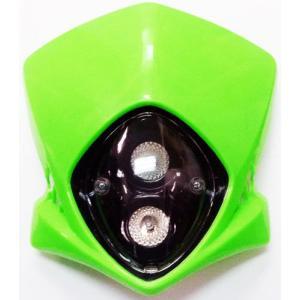 汎用 エクストリームヘッドライト付きカウル 縦目 グリーン|autopartsys