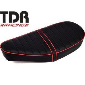 TDR製 シャリー 12V カスタムデザインシート タックロール ブラック レッドパイピング|autopartsys