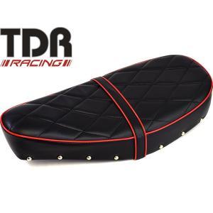 TDR製 シャリー 12V カスタムデザインシート ブラック×レッド ダイヤタイプ|autopartsys