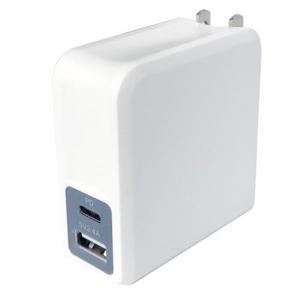 AC TypeC-PD 45W 2P WH 充電器 ホワイト 2ポート USB 家庭用コンセント 高速充電 海外使用 折りたたみ式プラグ カシムラ AC-002 autorule