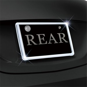 セイワ リアナンバーフレーム クロームメッキ リア取付専用 新方式スライド取付 ドレスアップに最適 K-416|autorule