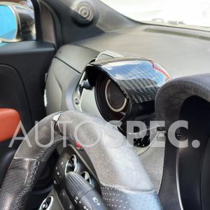 ABARTH 500 500C 595 595シリーズ4 ブーストメーター カーボン フード THREEHUNDRED アバルト S4 autospecy-store