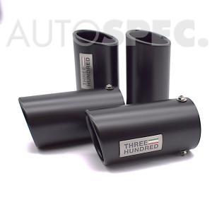 ABARTH マフラーテールフィニッシャー ブラックテール 500 595 695 レコードモンツァ レコモン 4本 THREEHUNDRED アバルト  autospecy-store
