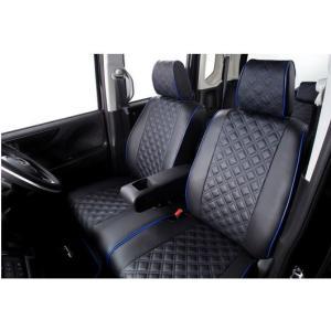 クラッツィオ セレナ C27 G/ライダー シートカバー キルティングタイプ ブラック×ブルーステッチ autostyle-sore