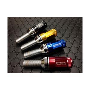 GARBINO ALFA 147 2ピースラグボルト 4本パック カラー:レッド 60°テーパー ネジ径:M14xピッチ:1.25x首下:45mm