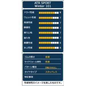 スタッドレスタイヤ ATR SPORT Winter 101 185/65R14 86T|autoway2|04