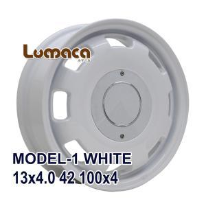 ■LUMACA MODEL-1 13x4.0 +42 100x4 WHITE:インチサイズ:13イン...