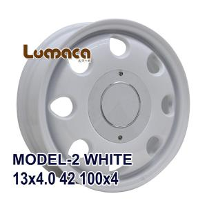 ■LUMACA MODEL-2 13x4.0 +42 100x4 WHITE:インチサイズ:13イン...