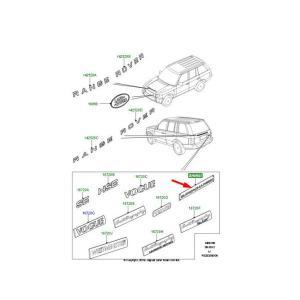 ランドローバー 純正 レンジローバー スポーツ フリーランダー ディスカバリー etc SUPERCHARGEDリア エンブレム DAM500350MCJ autowear 02