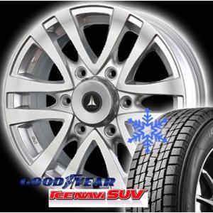 GOODYEAR グッドイヤー ICENAVI SUV アイスナビ SUV 175/80R16 + アルミホイール 【スタッドレスタイヤ+アルミホイール 4本セット】|autoweb