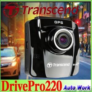 Transcend トランセンド GPS搭載ドライブレコーダー Wi-fi対応 FullHD 駐車監視付 DrivePro 220 TS16GDP220A-J |autowork