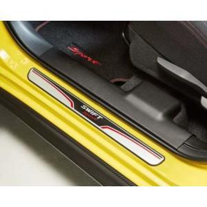 ZC33S スイフトスポーツ用 Swift Sportロゴ入りステンレス製ドアスカッフプレートです。...