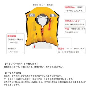 ライフジャケット 桜マーク 釣り 国土交通省型...の詳細画像2
