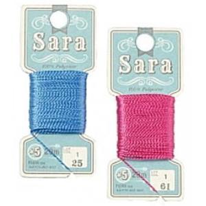 【フジックスFUJIX】手縫いステッチ糸 saraサラ #5 20m【C1-2】U-OK M-OK|avail-komadori