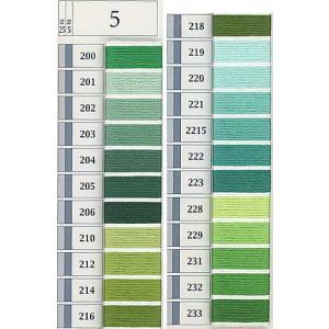 5番ししゅう糸 単色 綿100%約25m  2本の糸をより合わせたもので、 25番よりも太く、より目...