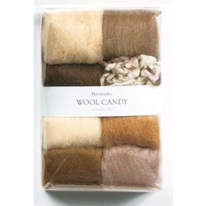 【ハマナカ H441-121-3】ウールキャンディ羊毛 8色セット アンティークブラウン 【C3-8】U-NG|avail-komadori