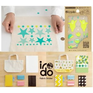 【irodo】 ファブリックステッカー Fabric Sticker イロド W74mm×H105mm 全24種 ※ゆうパケットOK! 【C3-8】|avail-komadori