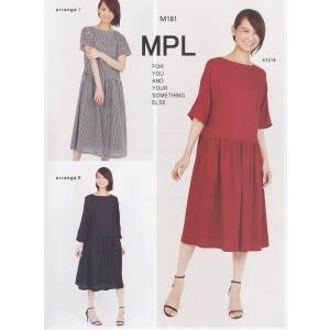 M181 【mパターン研究所】 ウエストギャザードレス(おとな)(型紙)【取寄せ品】 【C3-10】|avail-komadori