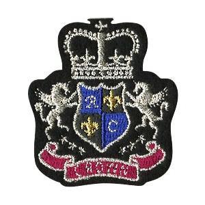 【ワッペン】 エンブレム CROWN 王冠 ペガサス 1枚入り 913-91045  アイロン接着 ※ゆうパケットOK! 【C3-8】|avail-komadori