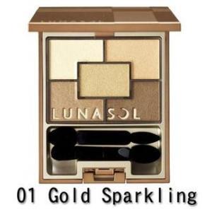 カネボウ ルナソル(LUNASOL)スパークリングアイズ #01 Gold Sparkling