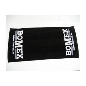BOMEXロゴ入りビーチタオル(Black)|avanzza